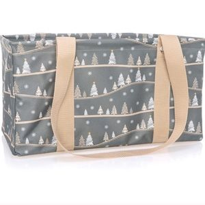 Medium Utility Tote-Snowy Slopes